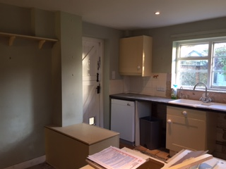 Devizes kitchen during.