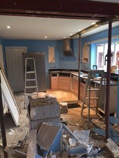 Swindon kitchen during.